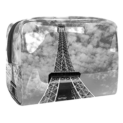 Bolsa de Aseo Hombres y Mujeres Torre Eiffel parís para Niñas Organizador de Bolso Cosmético Accesorios de Viaje Bolsa de Viaje Bolsa de Lavado 18.5x7.5x13cm