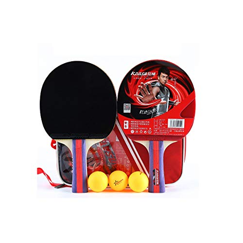 Affordable Wuhuizhenjingxiaobu Table Tennis Racket, Beginner, 2 Pack Table Tennis Racket, Pen-Hold, ...