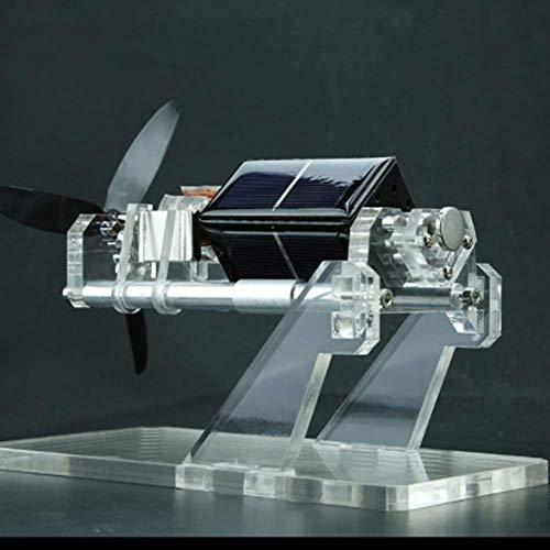 HSART Motor Solar de Levitación Magnética Doble Capa con Aspas de Ventilador Diseño de Dos Ejes Juguetes Creativos Desarrollo del Interés de Los Niños