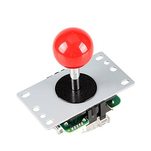 EG STARTS Arcade Klassische Wettbewerb 5 Pin Stick 4 - 8 Möglichkeiten Joystick Für Arcade DIY Kit Teile Video Spiel Mame Jamma Maschine Gaming Raspberry Pi Retropie Projekte (Rot)