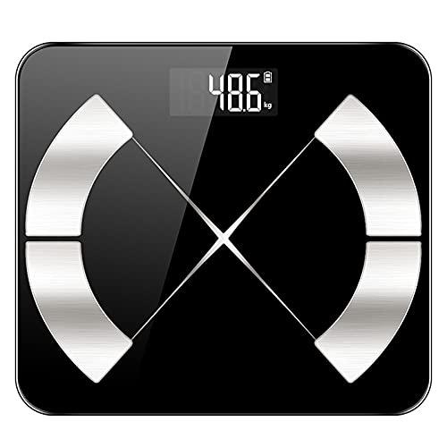 XMH Básculas Digitales Inteligentes De IMC, Analizador De Composición, Monitor De Salud, Báscula Digital De Peso Corporal, Sincronización De Aplicaciones para Teléfonos Inteligentes con Bluetooth
