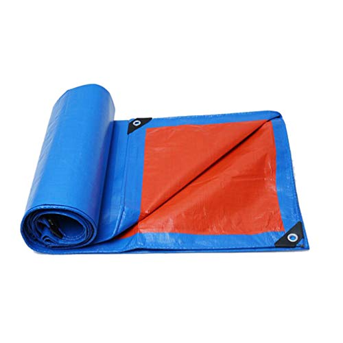 HCYTPL afdekzeil, waterdicht, tarp vloerbedekking, tent, luifel, zonwering, heavy duty versterker, multimaten 160G / M2