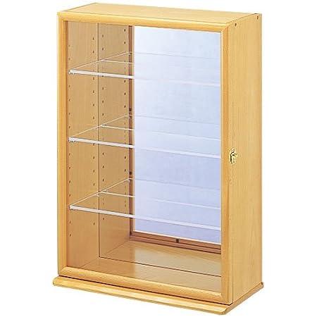 ナカバヤシ コレクションケース プラス 透明アクリル棚板タイプ ナチュラル木目 W330xD170xH480mm CCM-103-NM ディスプレイケース