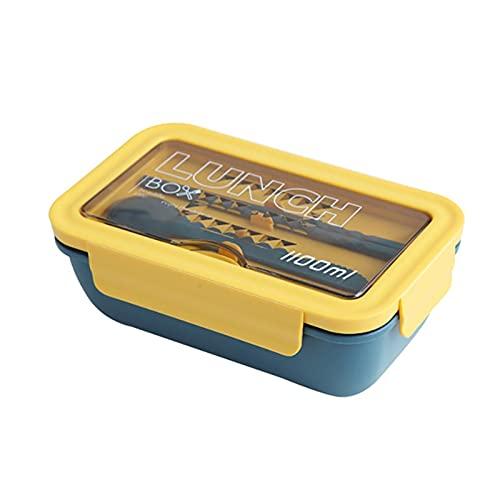 MJJCY 304 Caja de Almuerzo de Acero Inoxidable Compartimiento de Estilo japonés portátil Bento Caja Cocina Transporte a Prueba de Gastos (Color : G6003)