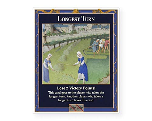 Longest Turn Penalty Card a Custom Unofficial Expansion Compatible with Settlers of Catan, Cities and Knights, Traders and Barbarians, Seafarers, and 5-6 Player Catan Extensions