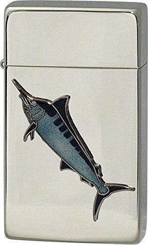 SAROME(サロメ) ガス ライター SRM 釣り 魚 シリーズ カジキ シルバー 700254