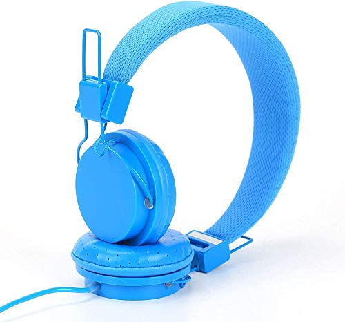 ZSW Headphones 15 * 17 * 7cm Foldable Headphones Childrens Earphones for Ipad-Blue