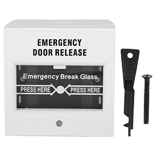 Wandisy Regalos de Mayo Interruptor de Puerta de Salida de Emergencia, botón de Alarma de Rotura de Cristal de Seguridad de Alarma de Incendio de liberación de Puerta