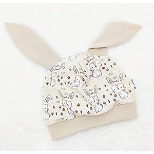 Baby Mütze Ohrenmütze Boho Hase Häschen beige Ostern Handmade Puschel-Design®