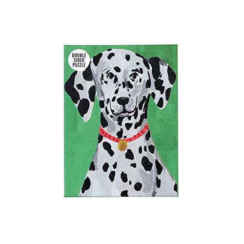 Talking Tables- Rompecabezas y póster dálmata de Doble Cara Verde de 100 Piezas | Mascotas, Animales | para niños, Adultos, Amantes de los Perros, cumpleaños, Color (PUZZ-Dog-DAL)