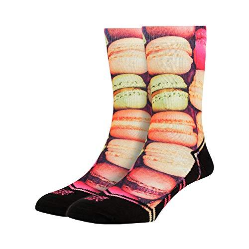 LUF SOX Classics Macaroo - Socken für Damen und Herren, Unisex-Größe 35-39, 40-43 und 44-48, mehrfarbig, Ferse und Fußspitze leicht gepolstert