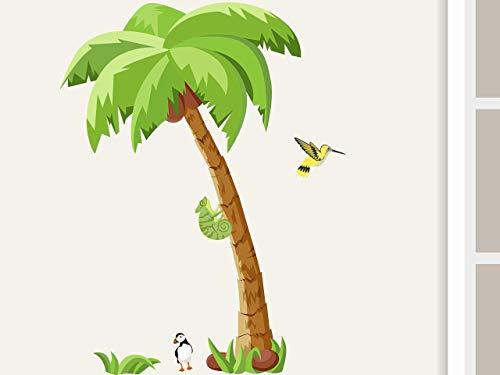 """Wandtattoo\""""Palme Little\"""" Wandaufkleber für Kinderzimmer Kinder Babyzimmer Dschungel Afrika"""
