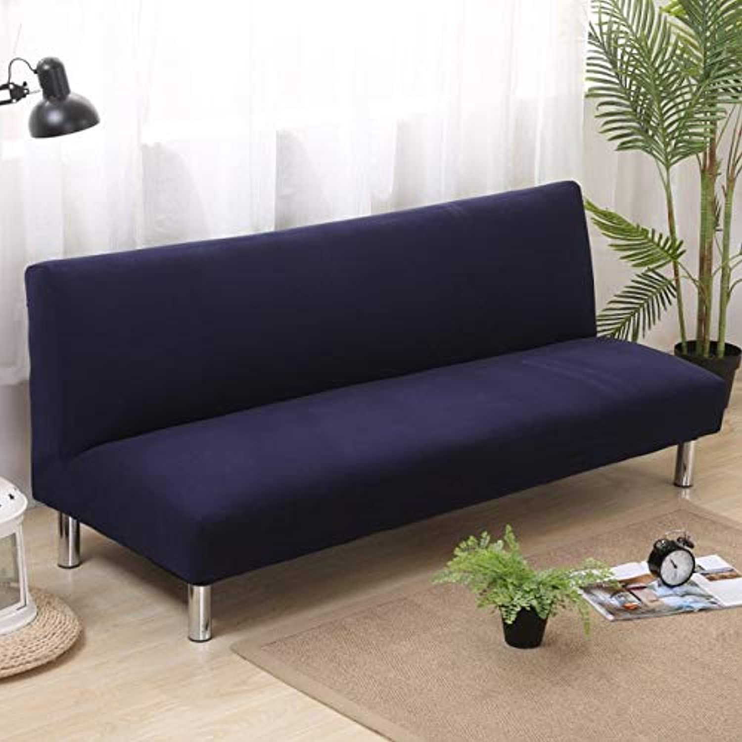 Farmerly Modern Without Armrest Sofa Cover Multifunction Sofa Slipcover Big Elastic Fabric Anti-Mite 160-210cm bluee Star Sofa Bed Covers   Navy bluee, 180-210cm