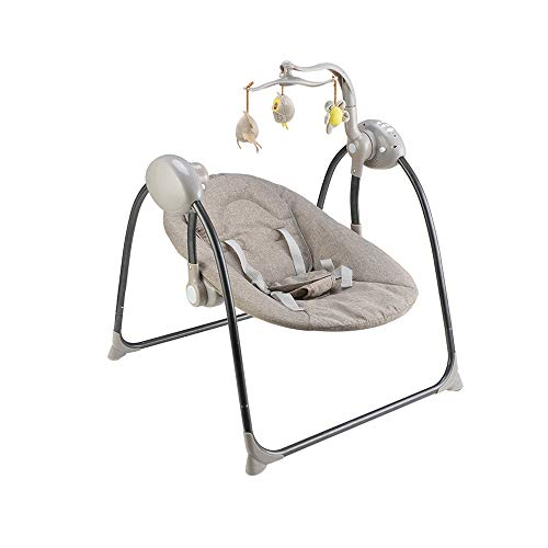 NXYJD Silla de Columpio eléctrica para bebé, Mecedora Musical para bebé, Cesta...
