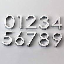 TRJGDCP 3D Numeral Deur Plaque Huis Lade Teken Plating Gate Cijfers 0 tot 9 Plastic Aantal Tag Hotel Home Sticker Adres De...