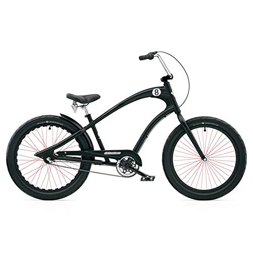 ELECTRA Herren Fahrrad Straight 8 8i Beachcruiser, Schwarz, 8 Gang, 24
