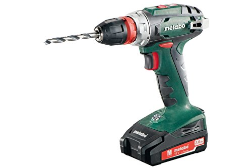 Metabo 602217500 accu-boormachine BS 18 Quick 18 V, 2 x 2 Ah Li-ion-accu's, gereedschap-snelwisselfunctie, inclusief oplader, in koffer, max. Draaimoment: 24 Nm (zacht)/48 Nm (hard).