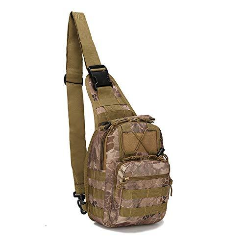 Zipvb Sacs de Sport Grand Format 600D Outdoor Sports Bag Sac De Camping Militaire Randonnée Sac À Dos Tactique Utilitaire Voyage Trekking Sac À Bandoulière Chasse Sac À Dos Only_Bag