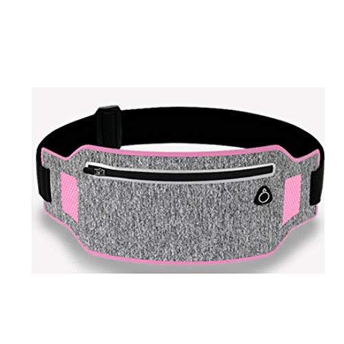 Cinturón de cintura profesional Cinturón deportivo Cinturón deportivo Teléfono móvil Mujer Mujeres con bolsa oculta Bolsas de gimnasio Bolsas corriendo Cinturón Paquete de cintura ( Color : Pink )