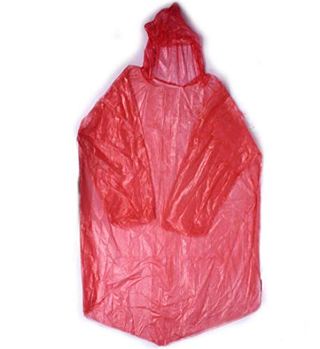 SHUHANX Einweg Regenmäntel 5pcs Wegwerfregenmantel Spielraum beweglicher Heller Poncho Plastikregenmantel für Frauenmänner