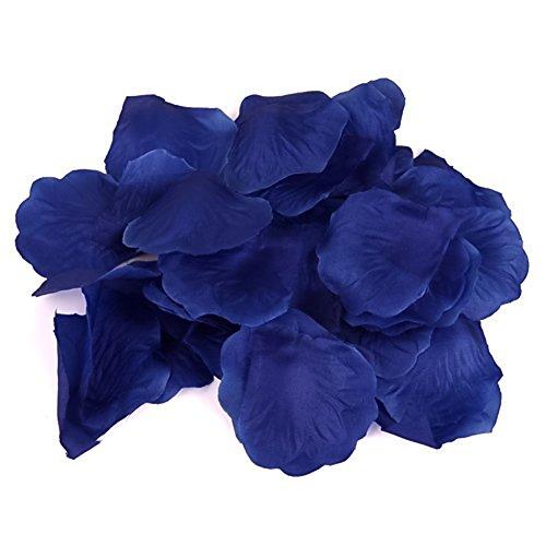 Venkaite 500 pezzi Petali di Rosa Decorazione per Matrimonio Supplies Petali di Fiori (Blu reale)