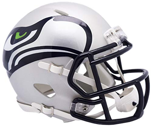 Seattle Seahawks Riddell NFL AMP - Casco (tamaño pequeño)