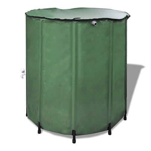 Réservoir de jardin pliable pour eau de pluie, réservoir collecteur d'eau de pluie, tonneau de pluie, pliable Réservoir de stockage d'eau durable, vert (750 L, 100 x 100 cm)