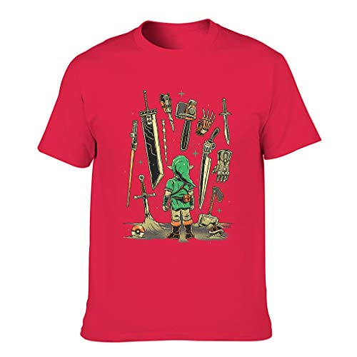 T-Shirt mit Rundhalsausschnitt Unisex Lässig T-Shirt für Erwachsene Unisex red1 m