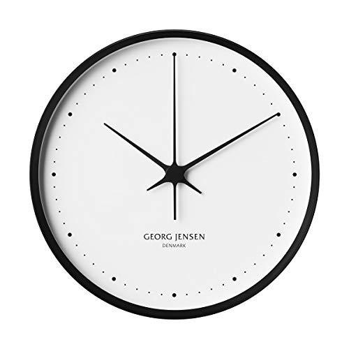 Georg Jensen Henning Koppel - Reloj de pared (30 cm de diámetro), color negro