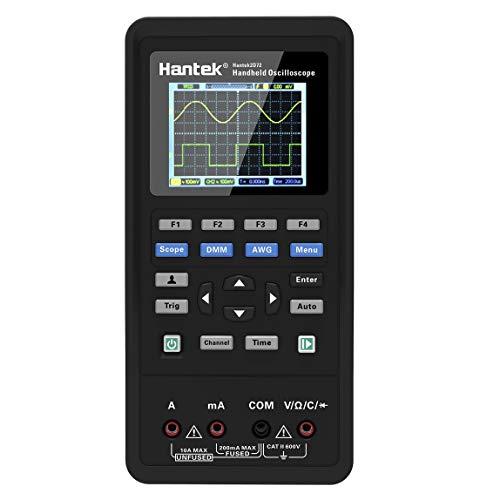 Hantek 2C72 Mini Mano Osciloscopio Digital Multimetro USB Portátil 2 canales 70MHz 250MSa /s Multifunción Ensayador