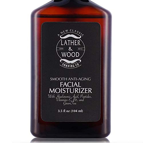 Face Moisturizer for Men - Lather & Wood's Luxurious Sophisticated Mens Moisturizer for the Man's...