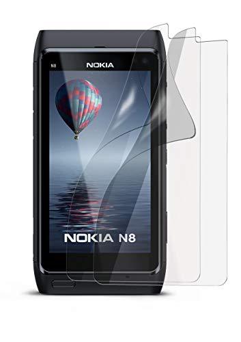 MoEx 2X OneFlow Pellicola Protettiva Display Anti Reflex per Nokia N8 Pellicola Display Opaca | Forma Perfetta e Protezione ottimale
