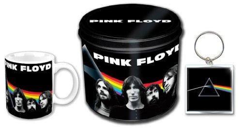 Pink Floyd Geschenkdose, Tasse, Schlüsselanhänger als Geschenkset Fanartikel
