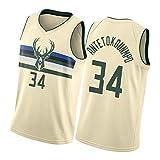 GDHA Milwaukee Bucks Giannis Antetokounmpo 34# Camiseta de baloncesto de los...