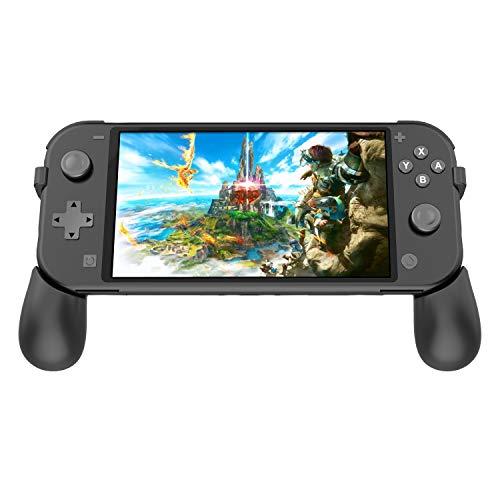 FYOUNG Faltbare Grip für Nintendo Switch Lite 2019 Konsole, Griff Tragbarer Handgriffhalter mit Ständer und 2 Spielefächern für Switch Lite