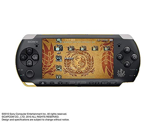 Sony PSP Slim 3000 Series Handheld Gaming Console with 2 Batteries (Monster Hunter)(Renewed)