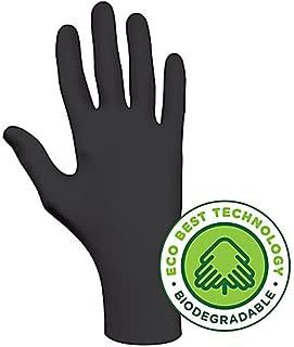 SHOWA 6112PFL100 Biodegradable Disposable Glove with ETB, Nitrile, Powder-Free, 4 mil, 9.5