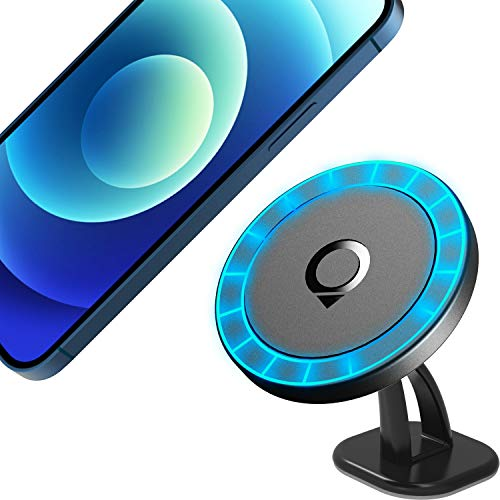 Quarble Magnetic Dashboard Car Mount Compatible with MagSafe Case iPhone 13 12 Pro Max Mini, 360° Adjustable Phone Holder No Metal Plate Needed 2021 All New