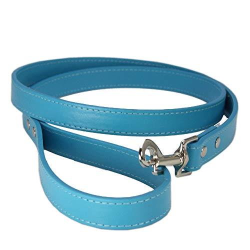 LilonGXI ketting voor honden, blauwe zee, modieus, van leer, duurzaam, fenomenwerend, waterdicht, elektrisch, voor kleine honden, puppels, hondenriemen en hondenriemen, XS
