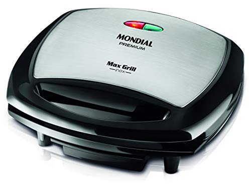 Grill Mondial, Max Grill Inox Premium 2 em 1, 220V, Preto, 1200W - G-07