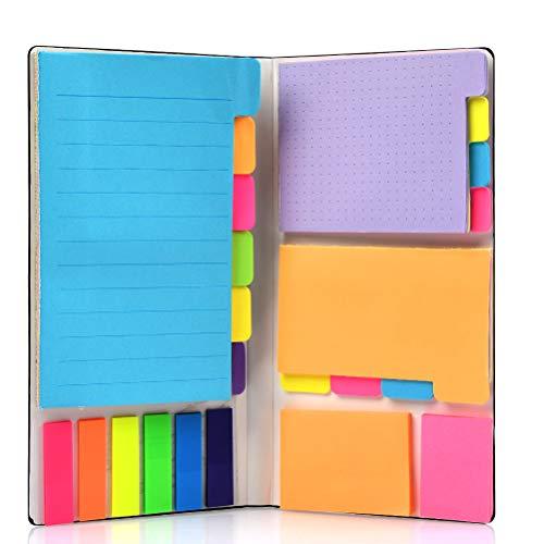 YOTINO Set Note Autoadesive, 426 Fogli Note Adesive Colorate e Segnapagina Adesivo Carta, Note Etichette Scrivibile, Note Adesive per Ufficio segnapagina plastica