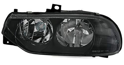 AD Tuning Phare DEPO en verre transparent noir halogène H1 H7 pour côté gauche LWR