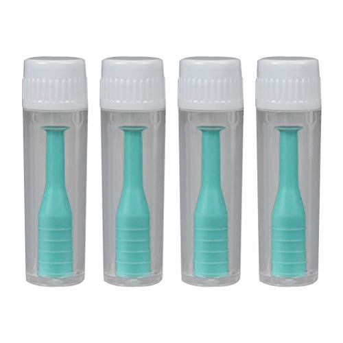 Supvox Kontaktlinsen Saugnapf Ohne Flasche Kontaktlinsen Zubehör 4 Stück (Grün)