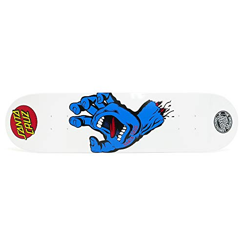 SANTA CRUZ DECK サンタクルーズ デッキ TEAM SCREAMING HAND WHITE/BLUE 7.75 スケートボード スケボー SK...