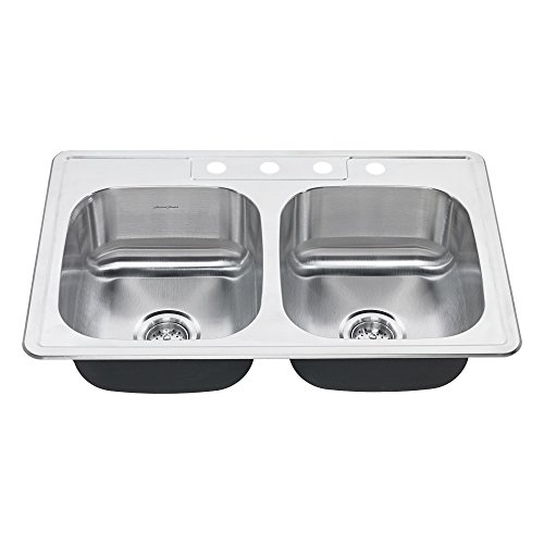 Double Bowl Stainless Steel Kitchen Sink Top Mount
