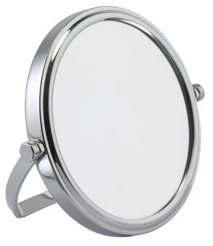 7x Grossissement Mini Chromé Miroir De Voyage