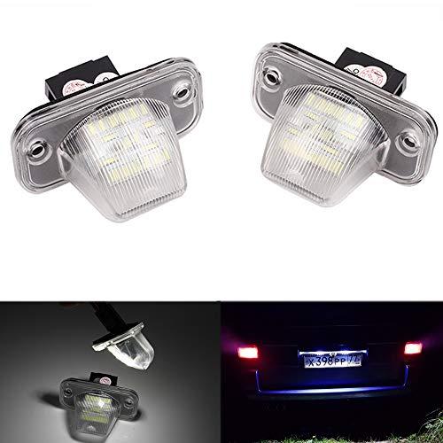 PolarLander 2Pcs 18SMD LED Lampe de Plaque d'immatriculation numéro Lampe pour V/W Transporter T4/Caravelle MK4/Multivan Passat B5 B6 Combi Eurova