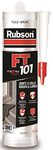 Rubson FT101 Ton-Dachziegel, Polymer-Dichtstoff, für alle Arten von Fugen, Reparatur von Rissen, Collagen, innen und außen, Kartusche 280 ml