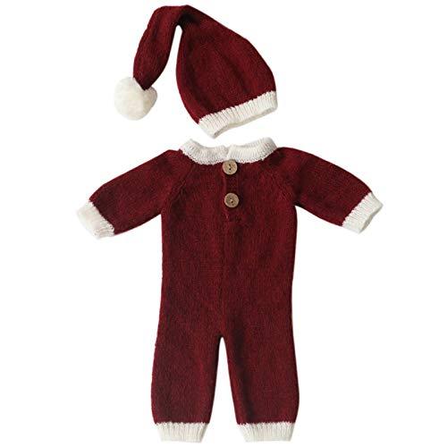 DERCLIVE Disfraz de fotografía para recién nacidos con temática navideña, 36 x 16 cm