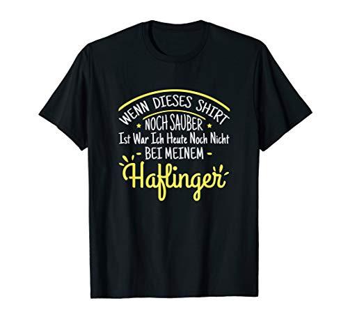 Haflinger Pferd Kleinpferd Reiter Pony Stall Geschenk T-Shirt
